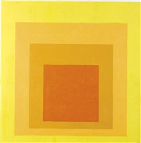 study for homage to the square: with orchids by josef albers