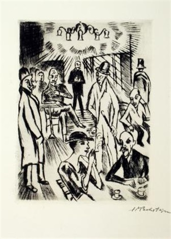 heidenstamm set of 4 by max pechstein