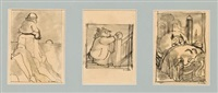 owl at home (3 prelimiary drawings) by arnold lobel