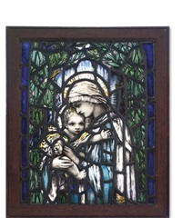 virgin and child window by theodora salusbury