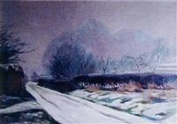 paysage de neige by raymond quibel