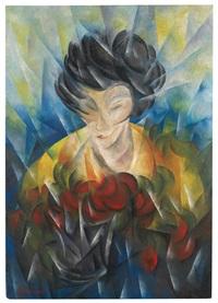 donna + fiori rossi by roberto marcello baldessari