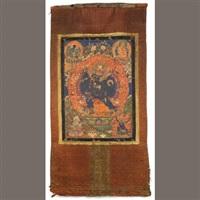 a thangka of vajrabhairava yamantaka by anonymous-tibetan (18)