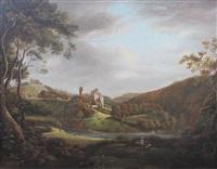 roslyn castle with roslyn chapel by alexander nasmyth
