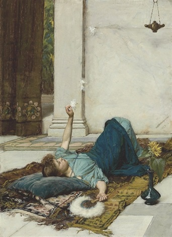 dolce far niente by john william waterhouse