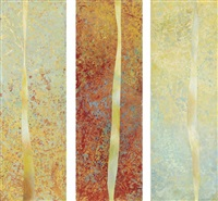 willowy reeds (triptych) by juliette holmes a. court