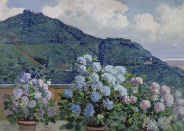 Terrazza fiorita by Carlo Montani on artnet