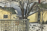 evening--early winter by charles ephraim burchfield