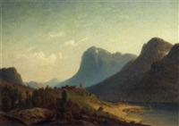 a farmstead by a norwegian ford by harald (sten h.) torsslow