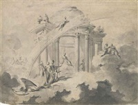 design for the prima macchina of the chinea of 1748 by louis joseph le lorrain