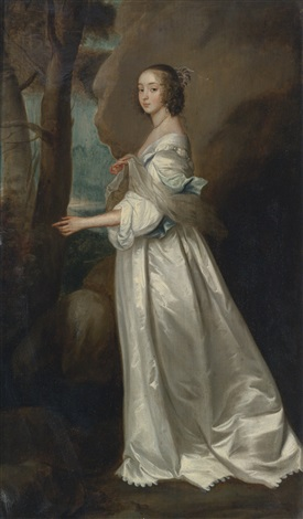 portrait of frances cranfield lady buckhurst later countess of dorset by sir anthony van dyck