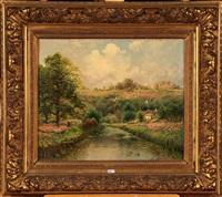 paysage aux bruyères animé by gaston anglade