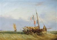 retour de pêche en manche, flobarts à couple by nicholas edward gabe