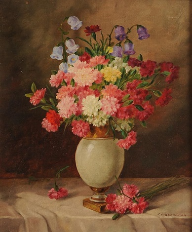 Still Life Flowers In A Vase By Alois Zabehlicky On Artnet