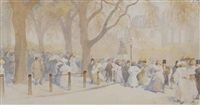 april, sunday afternoon in the park by yoshio markino