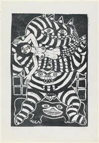 frauen und tiere (16 works) by robert zeppel-sperl
