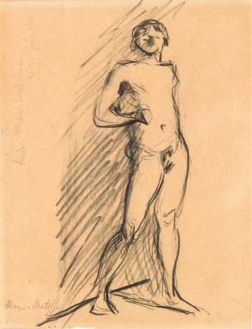 standing figure dessin by henri matisse