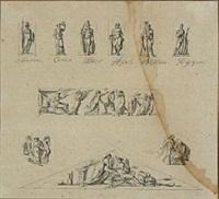 different roman gods (sketch) by nicolaj-abraham abilgaard