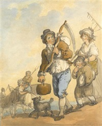 the haymaker by thomas rowlandson