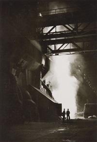 arbeit im thomas-stahlwerk, hüttenwerke salzgitter (work at steel-mill thomas, smeltery salzgitter) by hartmut zickmantel