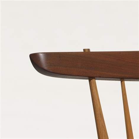 conoid bench with back by george nakashima
