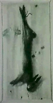 faisan accroche a une planche en trompe l'oeil,  lievre by giovanni fireli