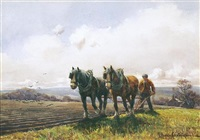 ploughing with horses by george hamilton constantine