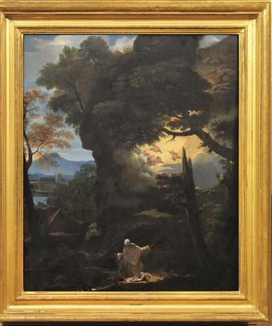 visione di san bruno in un paesaggio by pier francesco mola