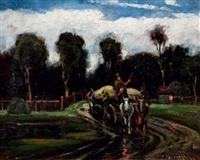 paysage à la charrette by nandor vagh-weinmann