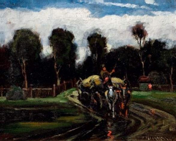 paysage à la charrette by nandor vagh weinmann