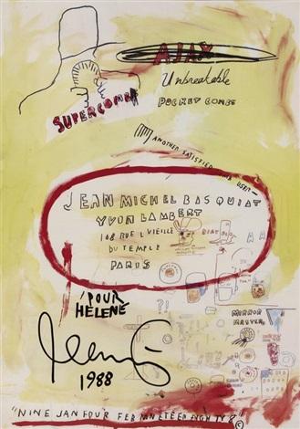 affiche yvon lambert by jean michel basquiat