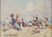 la plage de deauville by merio ameglio