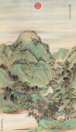 层峦拱翠图 by hong wu