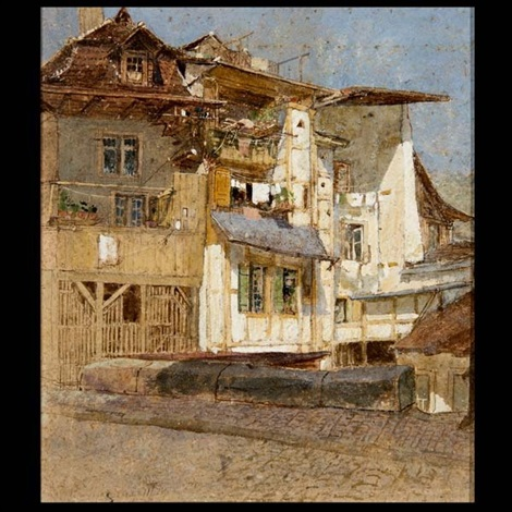 urban architectural study by louis comfort tiffany
