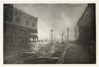 early morning, st. mark's square, venice by david gluck