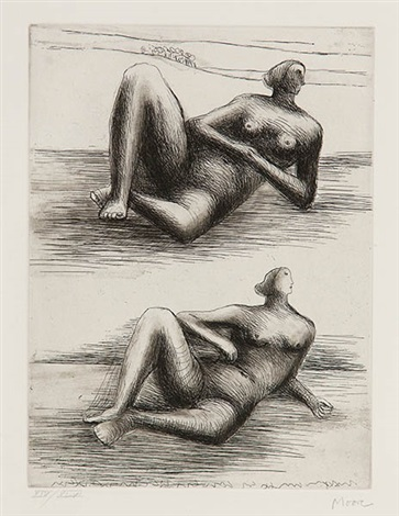 seated nudes by henry moore