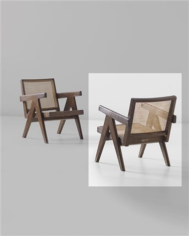 easy armchair model no pj si 29 a designed for administrative buildings chandigarh by pierre jeanneret