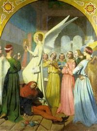 l'ange et le peintre by eugène emmanuel amaury-duval (pineu)