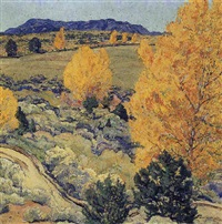 panoramic landscape by walter ufer