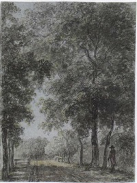 a wooded path at treslong, near hillegom by jurriaan andriessen