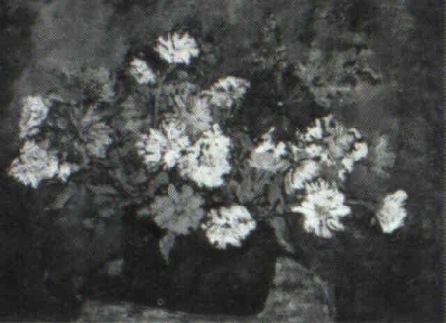 zinnizs in a bowl by florence w pomeroy