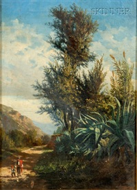 landscape (+ another; 2 works) by juan rabada y valloe