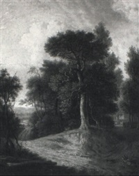 a wooded landscape by obadiah short