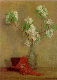 still life with white flowers by thomas gilbert white