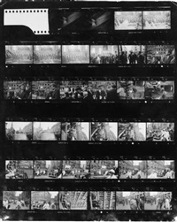 rede an die deutsche nation. der amerikanische präsident in der paulskirche in frankfurt am main 28. juni 1963 (4 contact sheets with total of 102 prints) by wolfgang david