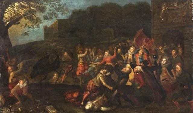 le combat des hommes et des animaux contre le temps et la mort by david vinckboons