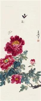 蝶恋花图 立轴 by wang xuetao