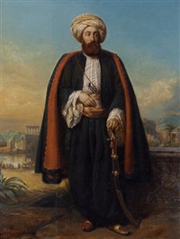 colonel george fergusson henry, honorary bey at the sultan's court by françois gabriel guillaume lépaulle