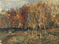 bouleaux en automne by aleksandr pavlovich gushchin