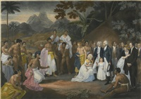 the cession of the district of matavai in the island of otaheite to captain james wilson by robert smirke